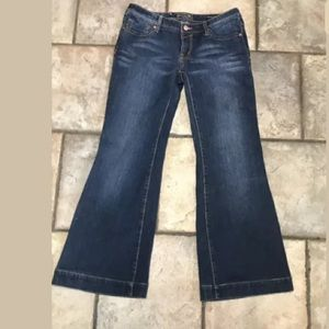 Seven Low Rise Wide Leg Dark wash Jeans Sz 29.